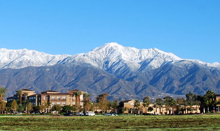 rancho Cucamonga landscape with mountains