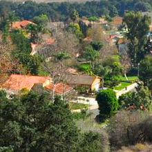 residential neighborhood butterfield ranch in chino hills