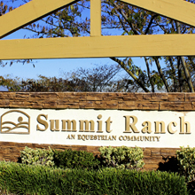 summit ranch sign