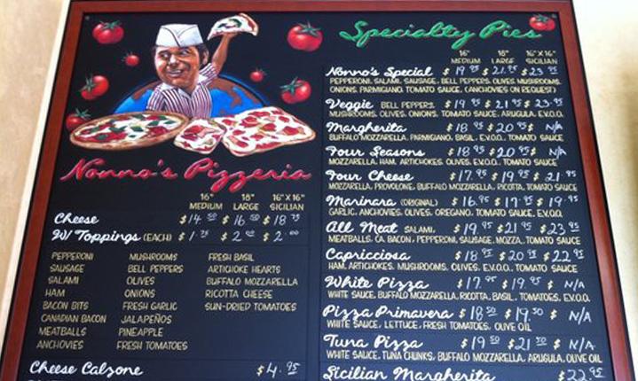 Nanno's Pizzeria in Chino Hills CA.