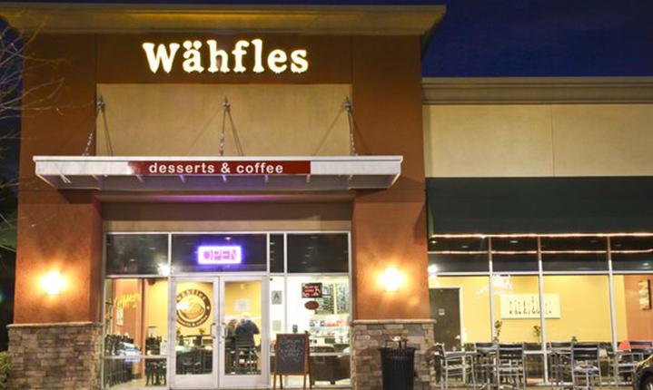 Wahfles Desserts & Coffee in Chino Hills California.