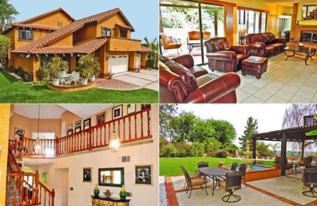 Four pictures of a beautiful home for sale in Chino Hills