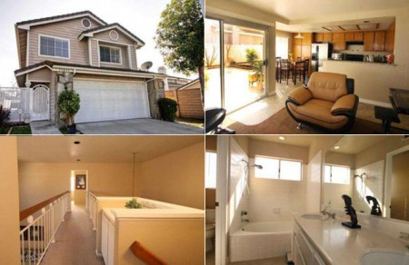 Collage of images showcasing a featured listing home in chino hills